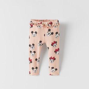 NWT 6-9 months Zara Mickey Minnie Mouse leggings